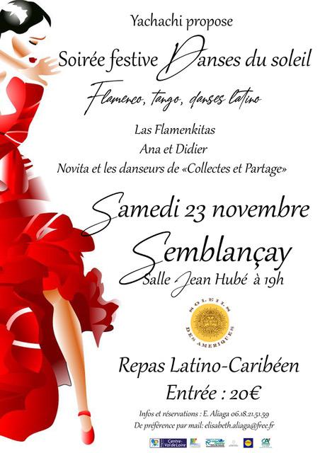 Prenez date pour participer à notre traditionnelle soirée festive de novembre !